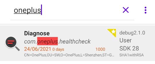 App showing healthcheck app.