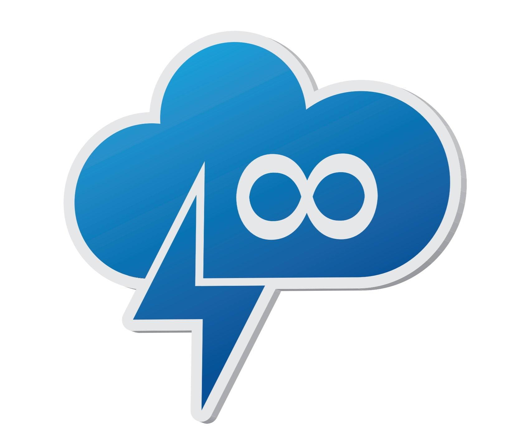 Logo of an infinite cloud and lightning bolt.