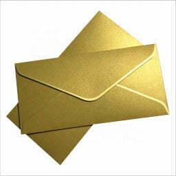 A golden envelope.